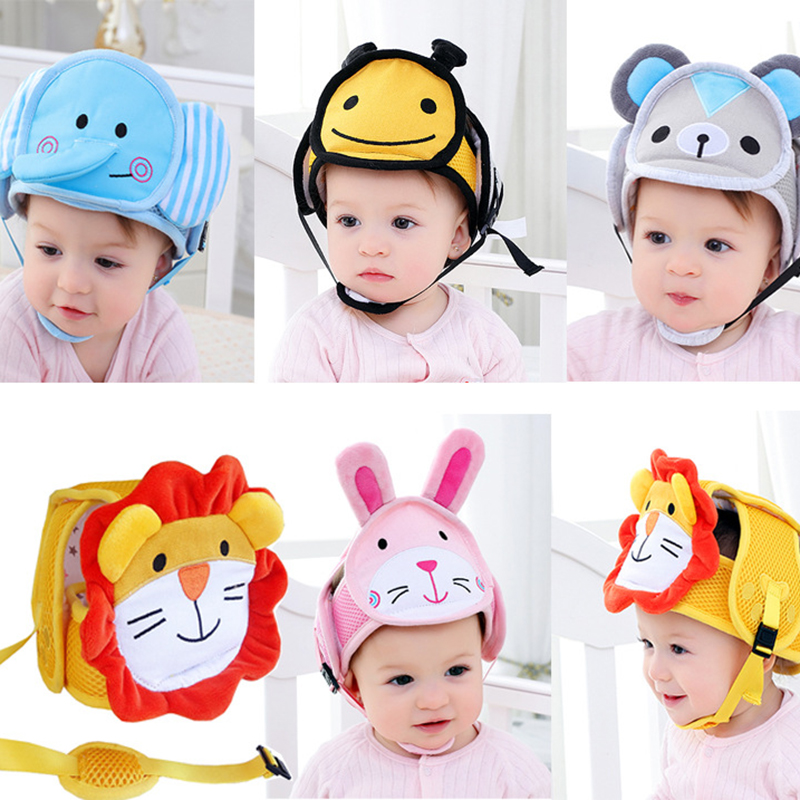 ideacherry Baby Safety Cap Child Learn Walking Anti-collision Protective Hat Toddler Helmet Soft Head Protection Adjustable Hatsideacherry Baby Safety Cap Child Learn Walking Anti-collision Protective Hat Toddler Helmet Soft Head Protection Adjustable Hats