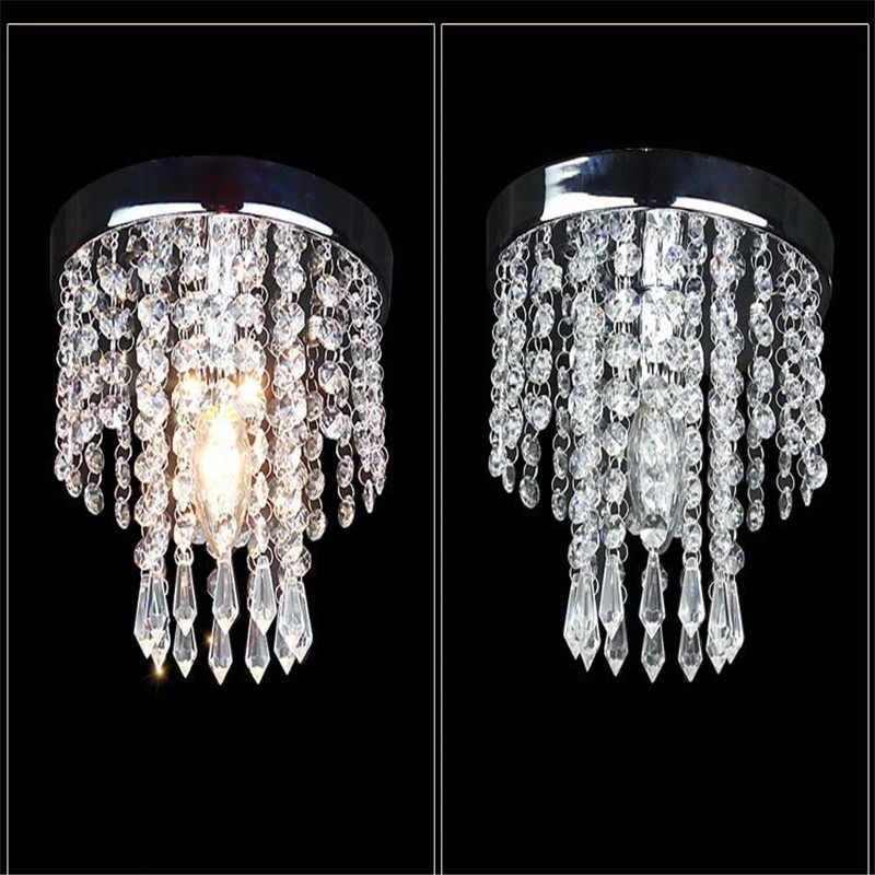 Кристалл потолочный светильник люстры гостиная столовая спальня Crystal light веранды, коридора огни двери охранников прямо балкон