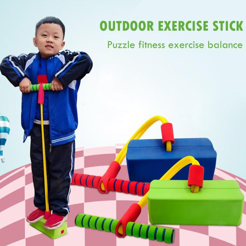 Children Jump Pole Funny Safety Toys Dexterity Training Environmental Friendly Exercise Balance Frog Jumping Toy Pogo Stick