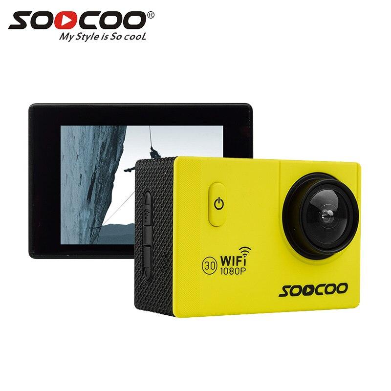 SOOCOO Sports Camera 30m Waterproof Mini Cam Pro Bike Video Sports Camera Wifi HD 1080P LCD Mini Camera 170 Degree Wide Lens 30m video