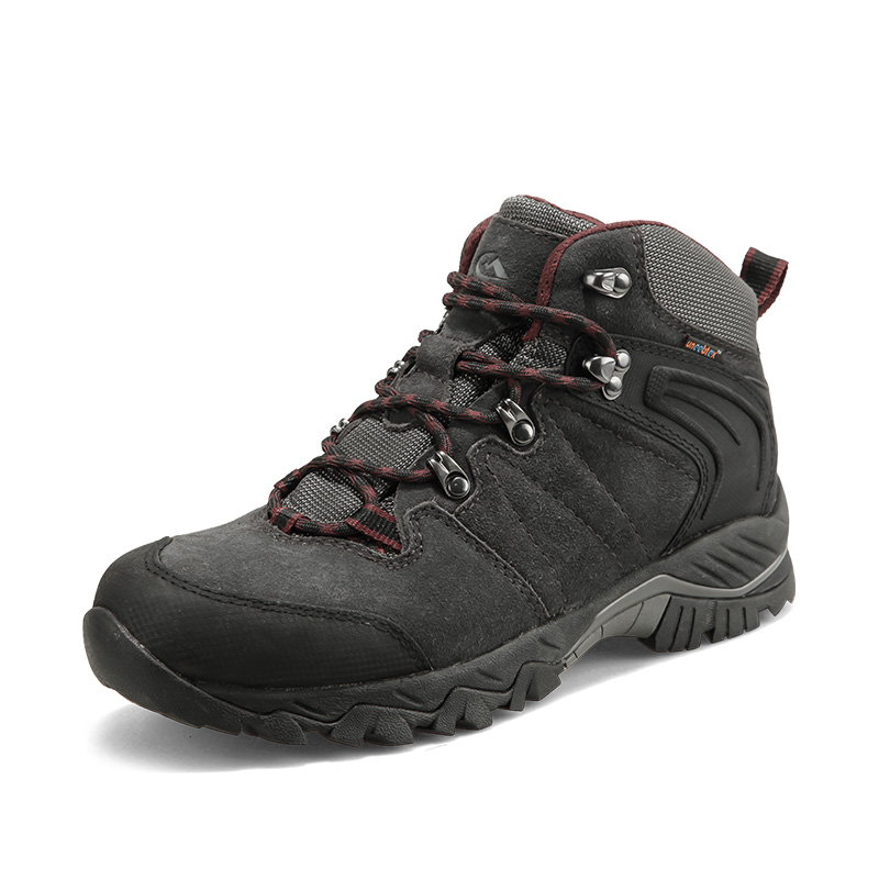 2017 Clorts Mens Hiking Boots Waterproof Mountain Boots Breathable Outdoor High Cut Sport Boots For Men Free Shipping HKM-822A/G 2017 merrto mens hiking boots waterproof breathable outdoor sports shoes color black khaki grey for men free shipping mt18638