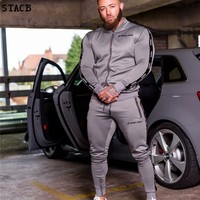 New Fashion Men Set Long Sleeve Camouflage Hoodies+Pants Set Male Tracksuit Outdoors Suit Men's Gyms Set Casual Sportswear Suit