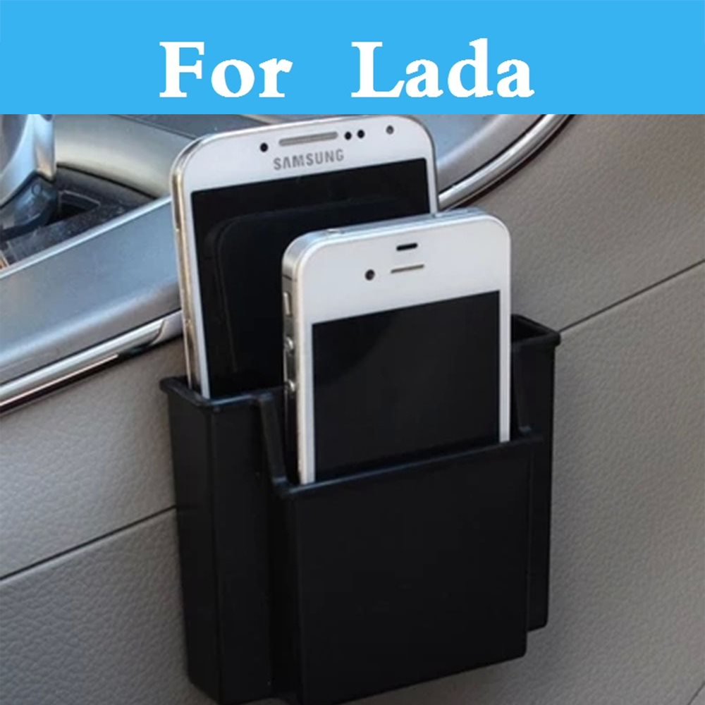 Car Cell Phone Holder Charge Box Holder Pocket Organizer Storage For <font><b>Lada</b></font> 1111 Oka 2105 2106 2107 <font><b>2109</b></font> 2110 2112 2113 2114 2115 image
