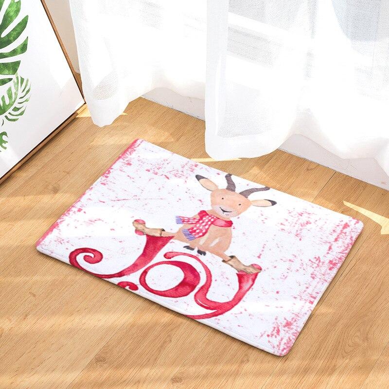 Elk Printed Doormats For Entrance Door Anti-slip Bathroom Carpets Bedroom Floor Mats Absorbent Kitchen Area Rug Shower Room Mats