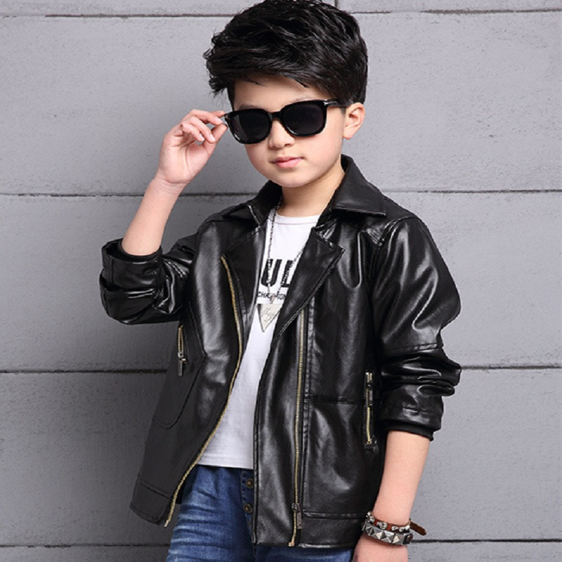 New spring/autumn baby boys jacket outwear kids pu jacket boys clothing fit for 110cm to ...