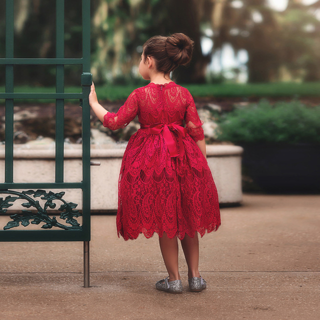 e8cd210f9 Aliexpress.com   Buy Lace Girls Cotton Dresses Autumn Winter ...