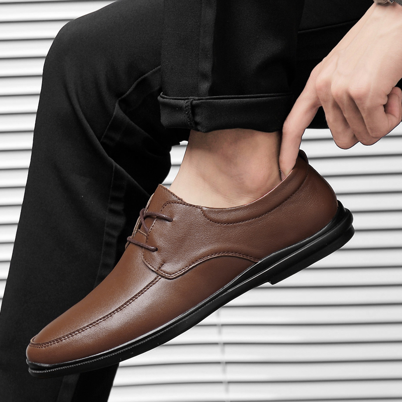 Rommedal Business Men Shoes Moccasins Leather Loafers Comfortable Driving Shoes Male Solid Black Brown Formal Shoes Wholesale