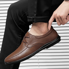 Rommedal Business Men Shoes moccasins Leather Loafers Comfortable driving shoes male solid black brown formal wholesale