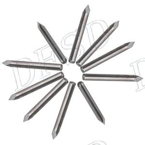 10Pcs 20 Degree 0.2mm Carbide Steel CNC Router Tool Pyramid Engraving Bits Jade Copper