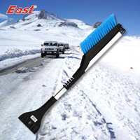 EAST High Quality Blue Car Cleaning Snow Remover Telescopic Snow Shovel Brush Ice Scraper Snow Scraper