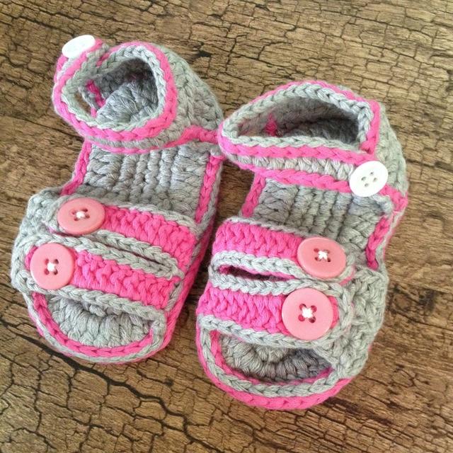 bada04e3 A la venta nuevo de calidad sandalias del bebé Girl Sandals ganchillo niños  sandalias verano zapatos