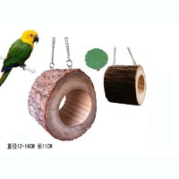 Creative Squirrel Toy Wooden Material Parrot Bird Nest Tree Hole Swing Lifting Chain Nest Bird House