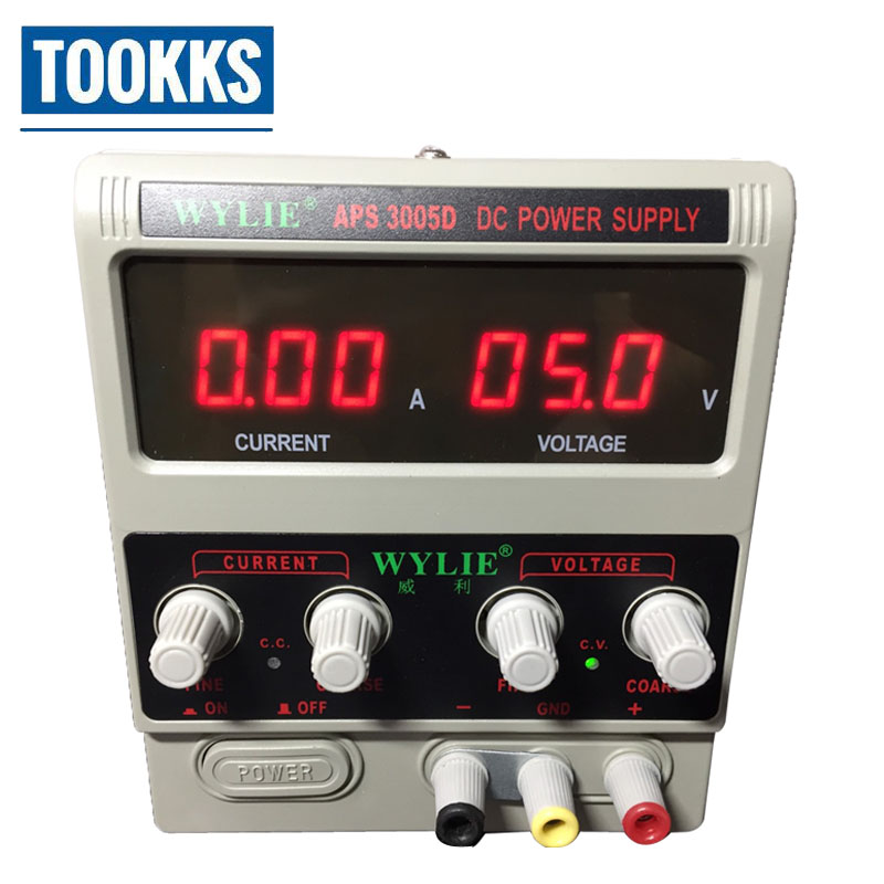 WYLIE 3005D High Precision Adjustable Digital DC Power Supply 30V/5A Switching Power Supply 220v For laptop phone repair 1200w wanptek kps3040d high precision adjustable display dc power supply 0 30v 0 40a high power switching power supply