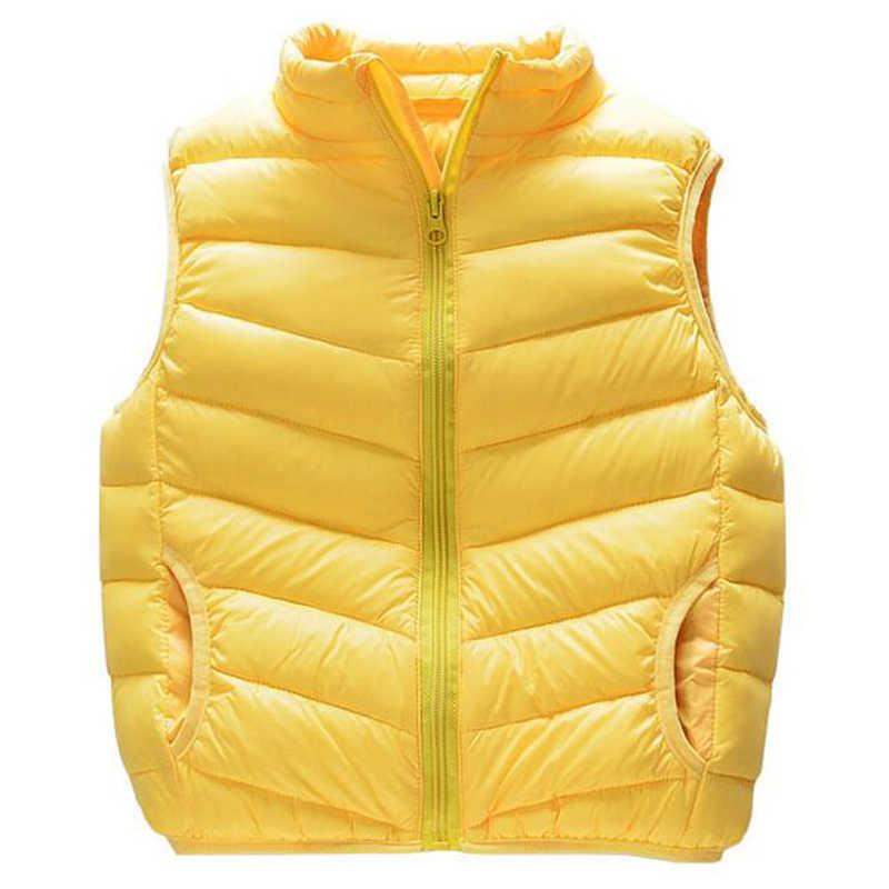 Жилет для маленьких девочек и мальчиков; детская верхняя одежда; пуховые парки для маленьких девочек; зимняя детская одежда; куртка для девочек; верхняя одежда
