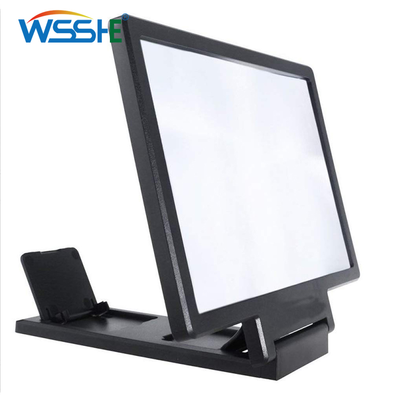 7.7 Inch 3D Screen Magnifier For Mobile Phone Screen Video Desk Holder 3D Screen Magnifier Folding Enlarged Expander Stand