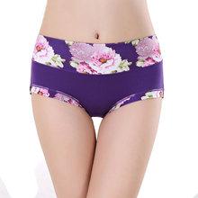 Cotton Underwear Women Panties Sexy Briefs Print Sexy Lingerie Calcinhas Brief Panties 4XL Cute Tanga Thong G-String Transparent(China)