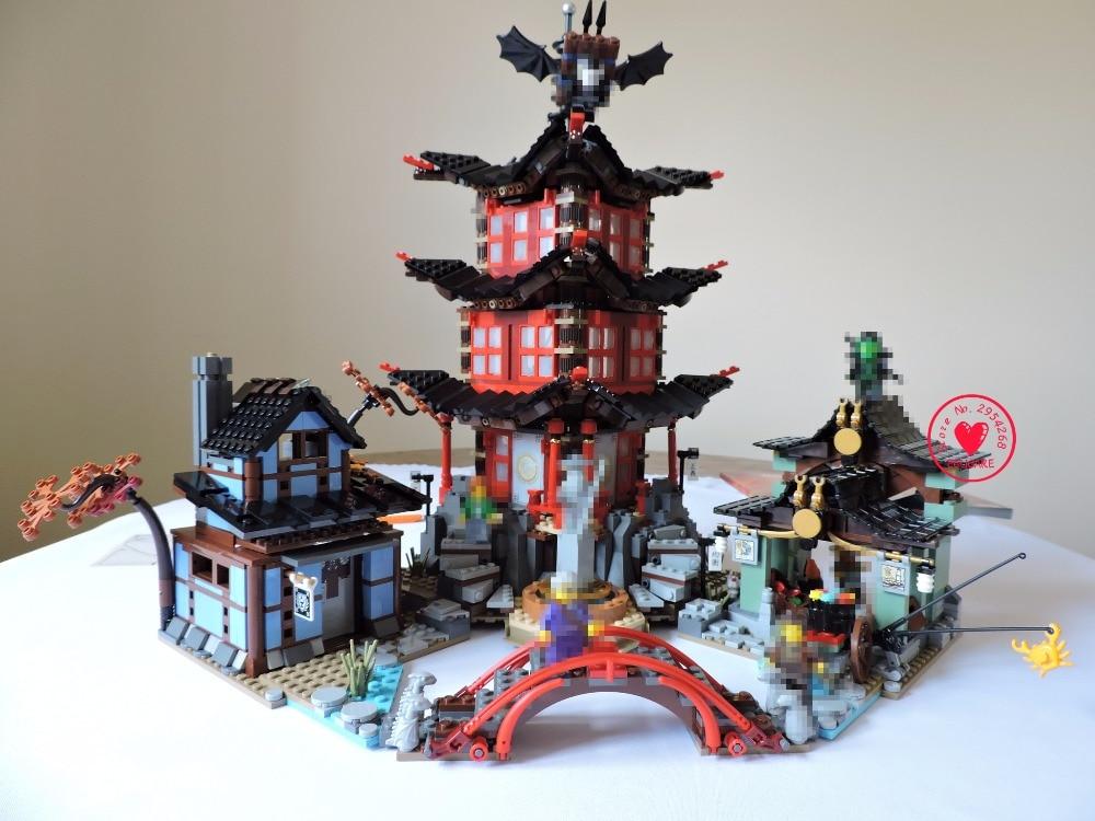 2150Pcs lepin 06022 Ninja movie Temple of Airjitzu Jay Kai Cole model Building kit Block Bricks Toy 70751 kid gift set bwl 01 tyrannosaurus dinosaur skeleton model excavation archaeology toy kit white
