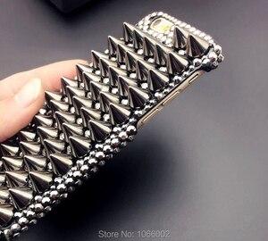 Image 2 - 3D Cool Punk pointes goujons Rivet diamant Bling Capa étui pour Samsung Galaxy S10e S9 S10 S20 Plus FE Note 10 + 10 Lite 9 20 Ultra
