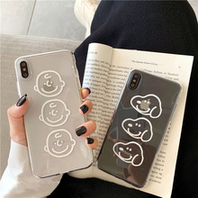 Cartoon character face cute case for iphone XS MAX XR X 6 6s 7 8 plus Charlie Dog transparent silicone soft cover