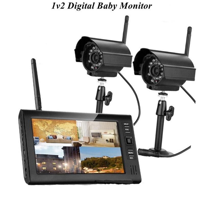 7 Inch 1V2 Wireless Digital Signal Intercom Baby Monitor