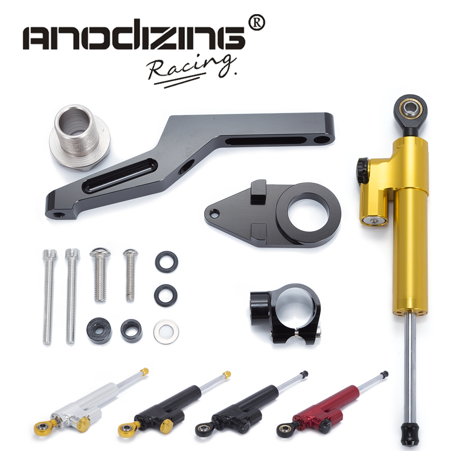 Motorcycle CNC Steering Damper Stabilizerlinear Reversed Safety Control with Bracket For KAWASAKI ZX6R ZX-6R 2009-2016 gt motor motorcycle cnc steering damper stabilizerlinear reversed safety control with bracket for yamaha mt09 mt 09 fz 09 13 17