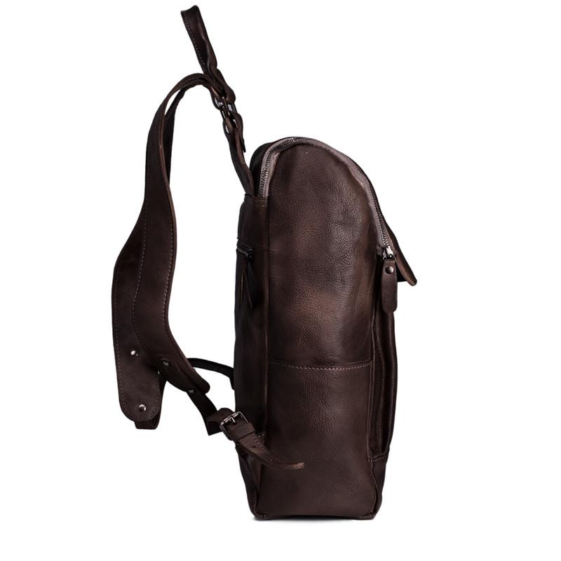 Handmade Vegetable Tanned Leather Backpack Rucksack Travel Backpack School Backpack 10
