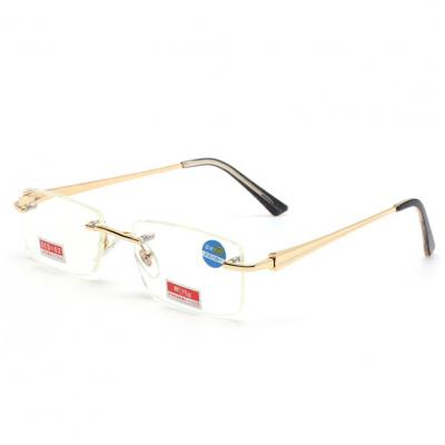 f6642b339d Rimless Bifocal Reading Glasses Men Slim Eyewear For Reader Men s ...