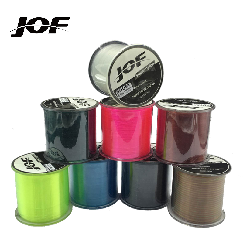 JOF Drop shipping 500m fly Freshwater clear Super Strong Japan Nylon Fishing Line