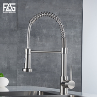 New Design Nickel Brushed Pull Out Kitchen Faucets, Copper Pull Down Kitchen Tap Mixers, torneiras FLG20020NT