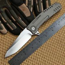 MG Mothership N690 steel blade Bearing TC4 titanium folding knife camping hunting outdoor survival pocket knives EDC tool