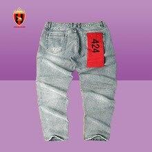 Хип-хоп хлопок брюки человек 424 FourTwoFour карандаш брюки Trouseres способ людей