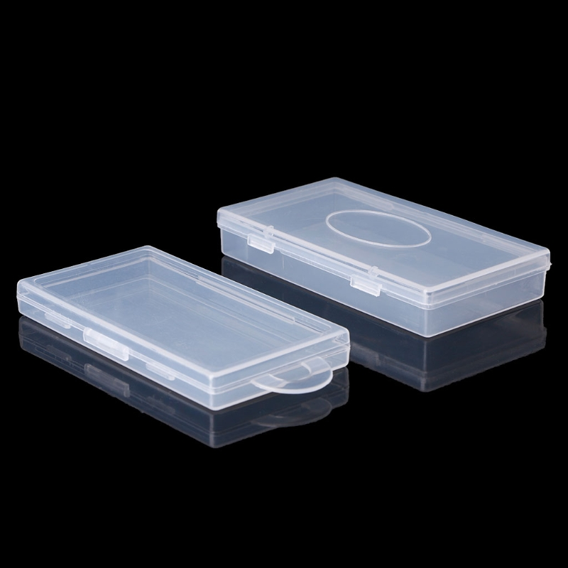 rectangular plastic transparent clear storage box jewelry container case organizer in storage. Black Bedroom Furniture Sets. Home Design Ideas