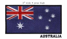 Australia 3 wide embroidery flag patch free shipping sew-on labels/brand /embroidered logo iron