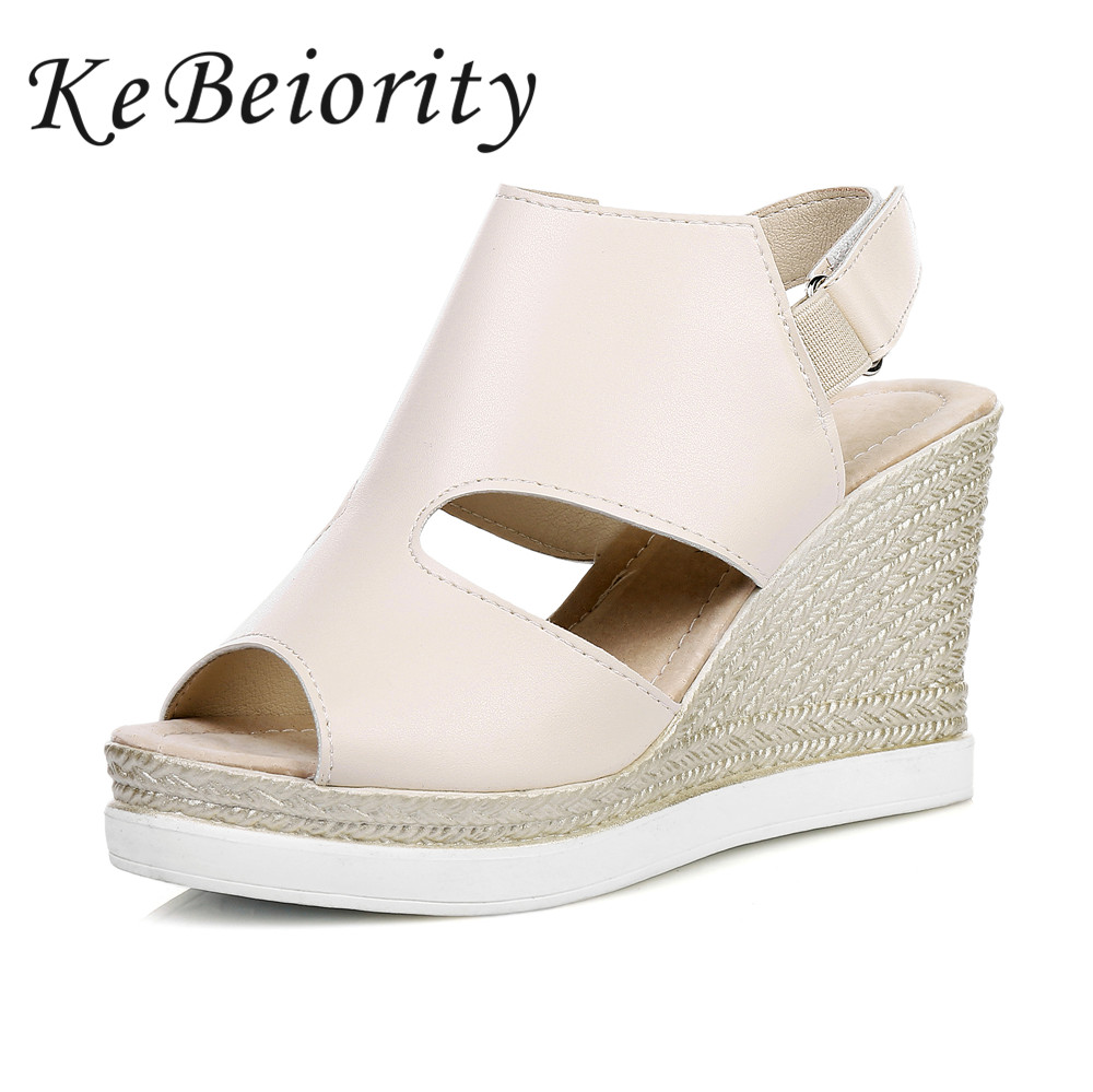 2017 Fashion Summer Women Sandals Comfortable Wedges Shoes Platform Women Shoes Beige Black Silver phyanic 2017 gladiator sandals gold silver shoes woman summer platform wedges glitters creepers casual women shoes phy3323