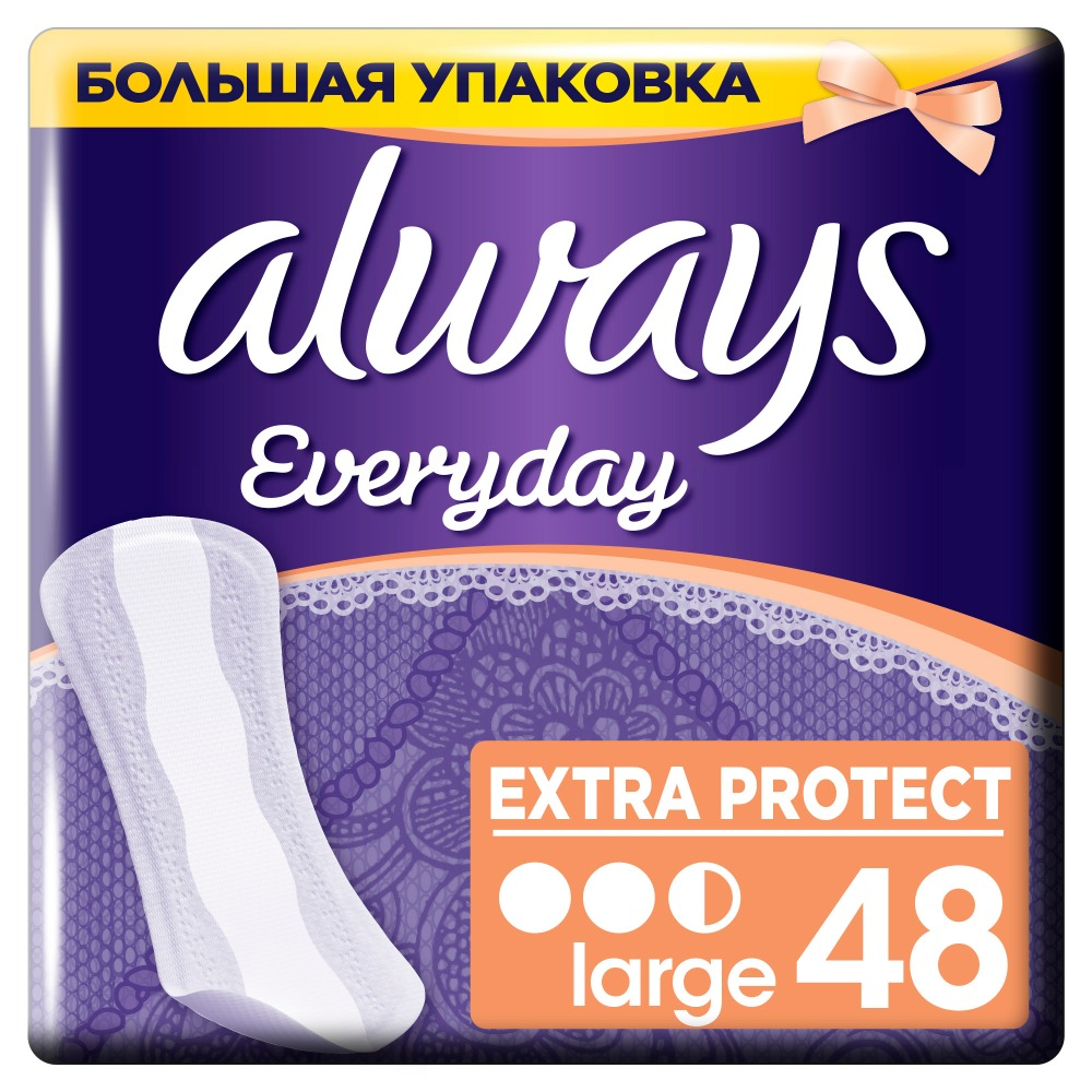ALWAYS Daily sanitary pads Every day Lengthened 48 pcs women s sanitary pads strip always ultra night 4 size 26 pcs sanitary pads feminine hygiene products