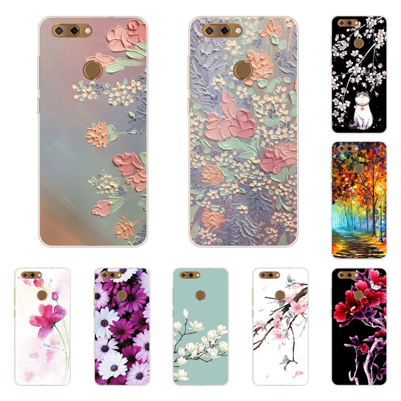 zte blade V9 Case,Silicon Full flower Painting Soft TPU Back Cover for zte blade V9 protect Phone bags