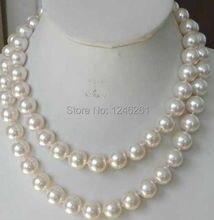 Super Long 12 mm mar blanco concha de perla fabricación de joyas de piedra Natural cuerda de la cadena 48 pulgadas ( pedido mínimo Order1 )