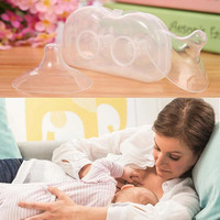 2Pcs 15cm Soft Ultra thin Silicone Contact Nipple Shield Baby Breast Milk Feeding Protector With Carring case