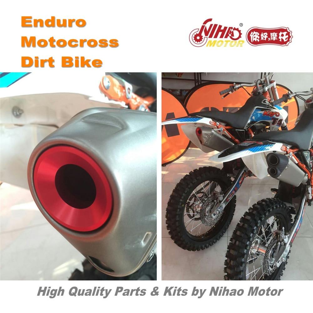 цена на 74 Motocross Parts Performance muffler KAYO T2 T4 T6 Alloy plug red Enduro Kit Dirt bike spare cross for Kawasaki for KTM for Ka