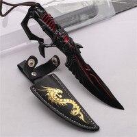 6 3 Cross Fire Hacking Knife Keychain RAMBO Knife CF Weapon Model Great Xmas Gift Free
