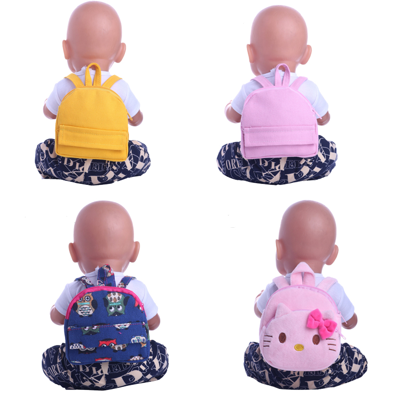 Doll Backpack Cute Animal Pattern For 18 Inch American& 43 Cm Born Baby Doll Accessory Our Generation Birthday Girl's Toy Gift