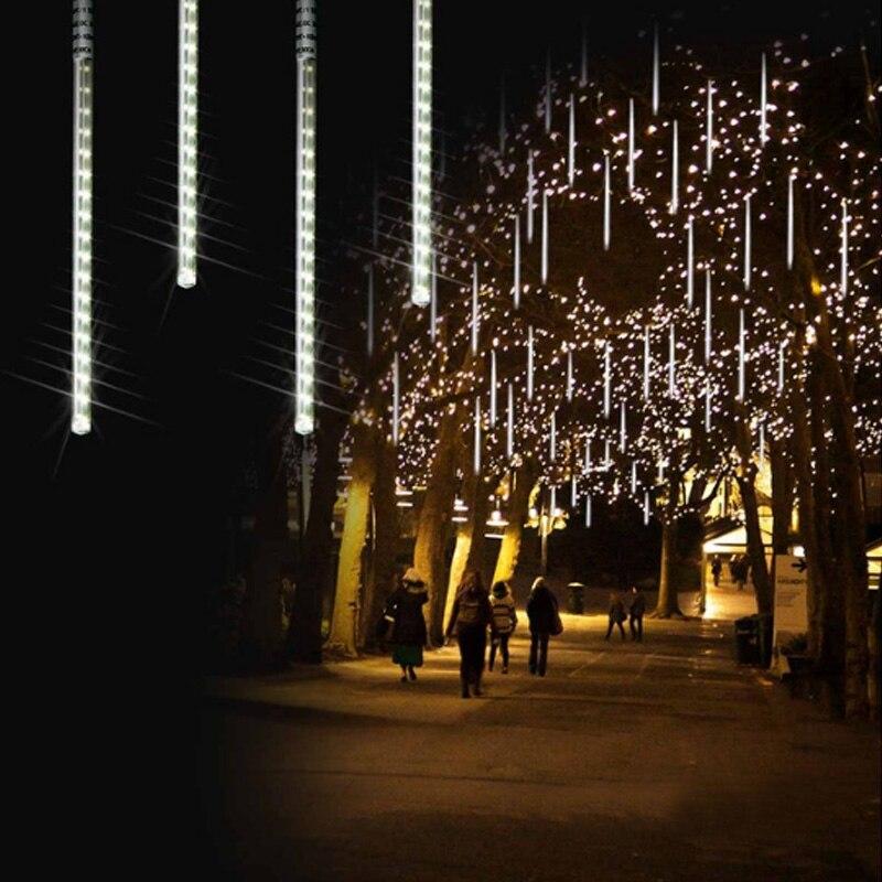 Multi-color 30CM 50CM Meteor Shower Rain Tubes AC220-240V LED Christmas Lights Party Garden Xmas String Christmas Lights Outdoor