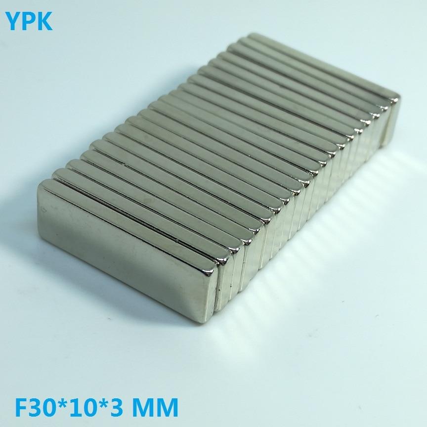 100pcs lot N35 Rectangular magnet 30 10 3 mm Super Strong Neodymium magnet 30MM X 10MM
