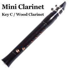 Карманный кларнет деревянный духовой музыкальный инструмент C Ключ мини-флейта черный Flauta кларнет начинающих кларнет с Reed аксессуары