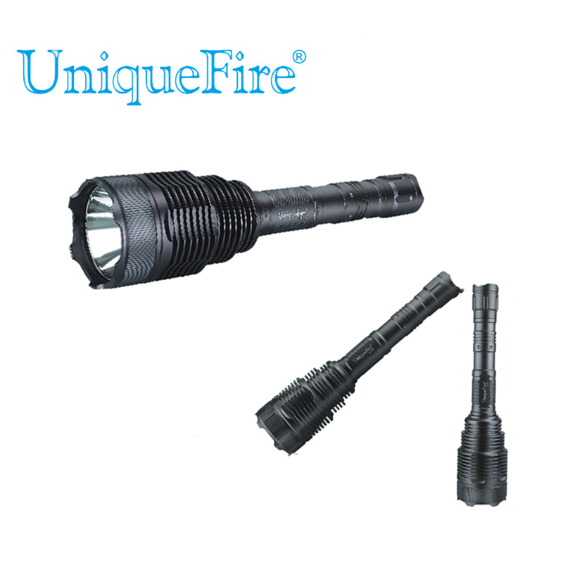 Uniquefire Hot Sales UF-V8 Cree T6 Led Emergency Rechargeable Portable Torch Light 5 Modes Darkgray Led Flashlight Shockproof