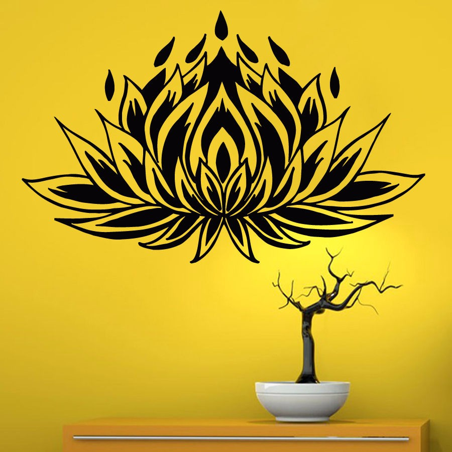 DCTAL Yoga Club Sticke Lotus Decal Patanjali Posters Vinyl Wall ...
