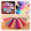 Girls Tutu skirts for girls Bowknot rainbow cake skirt children prom girls fashion Tutu Tulle Skirts Princess free shipping