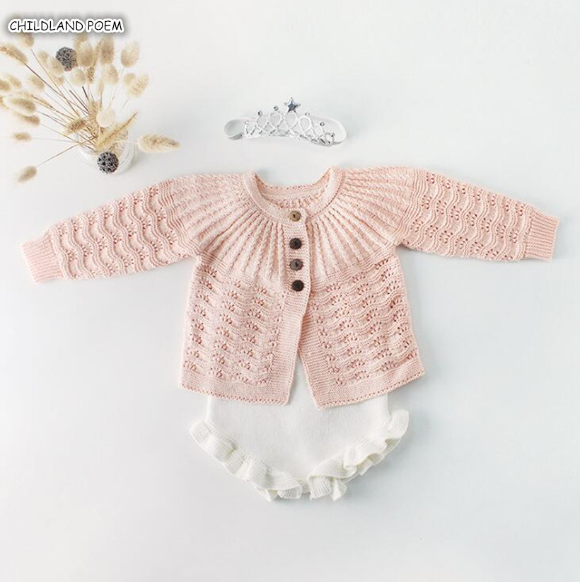 Baby Girl Clothes Knitted Baby Clothes Cardigan Cotton Newborn Baby   Romper   Girl Boys Jumpsuit Baby Boys Clothes Set Boys   Romper