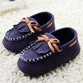 Мягкая Детская Обувь Темно-Синий Кистями Девочка Обувь для Новорожденных Малышей Классический Loafer Досуг Мягкой Подошве Prewalker Обувь 0-18 Месяцев
