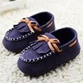 Suaves Zapatos de Bebé Azul Marino Borlas Zapatos Del Bebé Infantiles Del Niño Clásico de Ocio Mocasines de Suela Blanda Zapatos de Prewalker 0-18 Meses